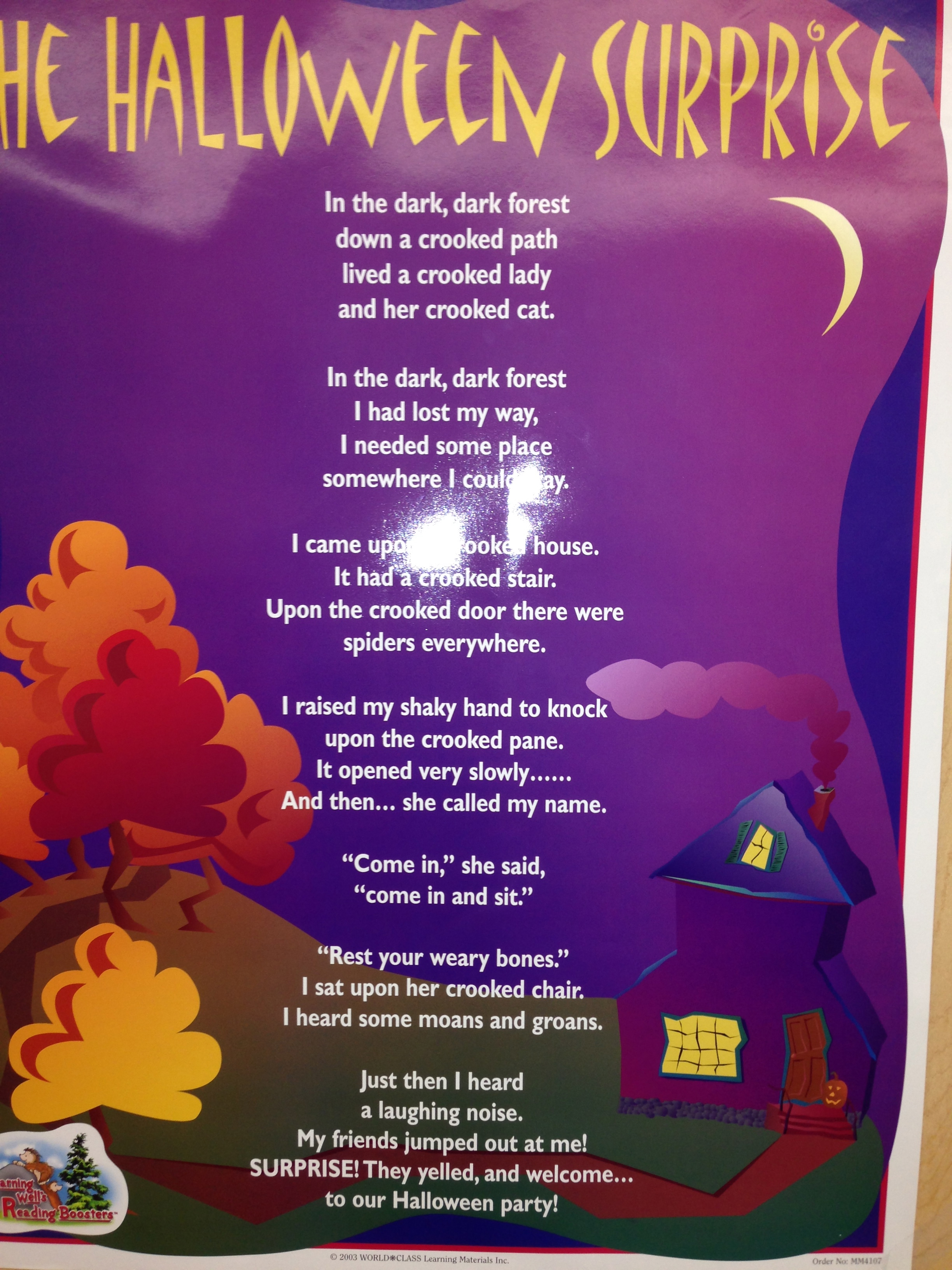 the kindergarten all stars then students used words and ideas from the halloween surprise to create their own halloween stories and writing they also created a construction paper
