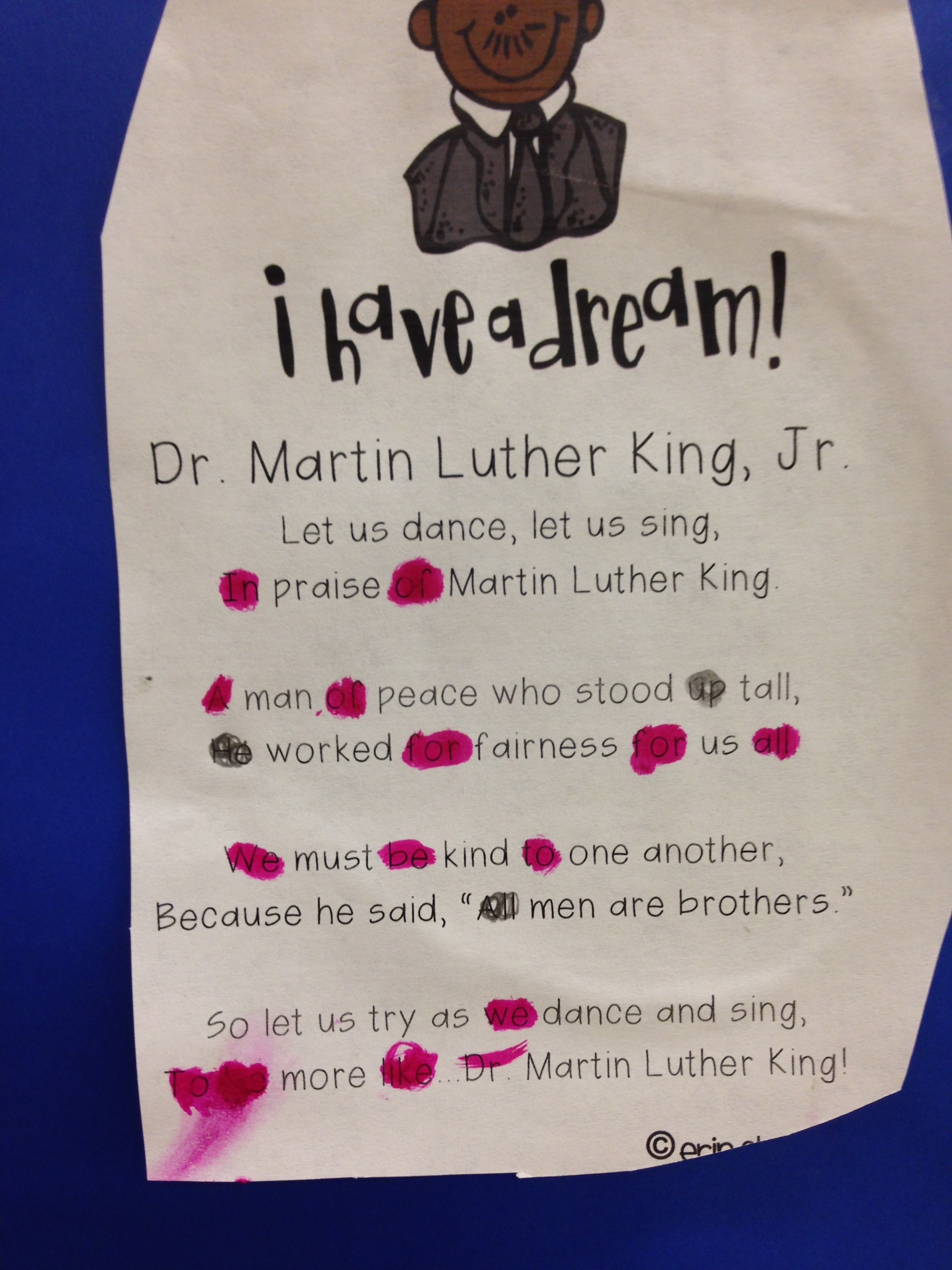 martin luther king jr the kindergarten all stars