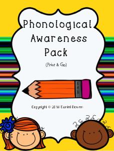 phonological awarenes TpT