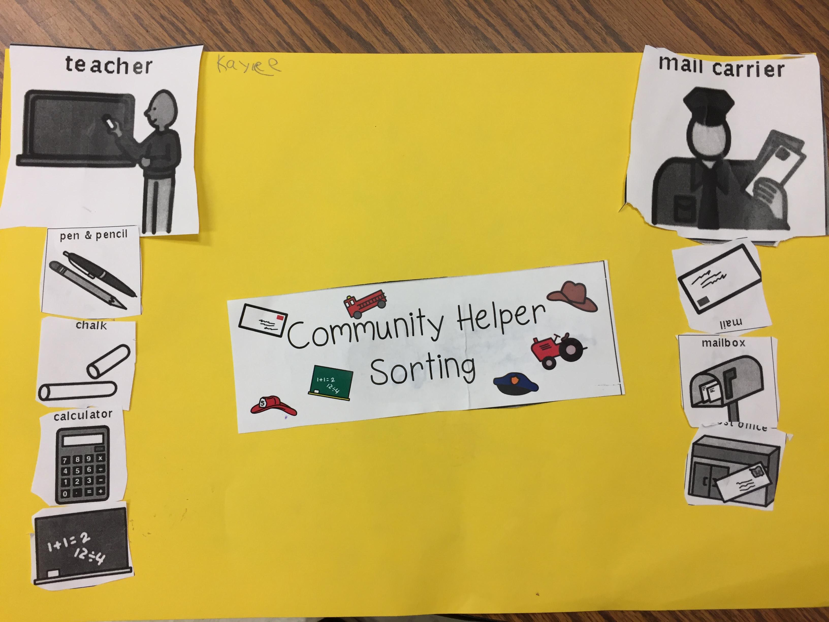 community helpers the kindergarten all stars
