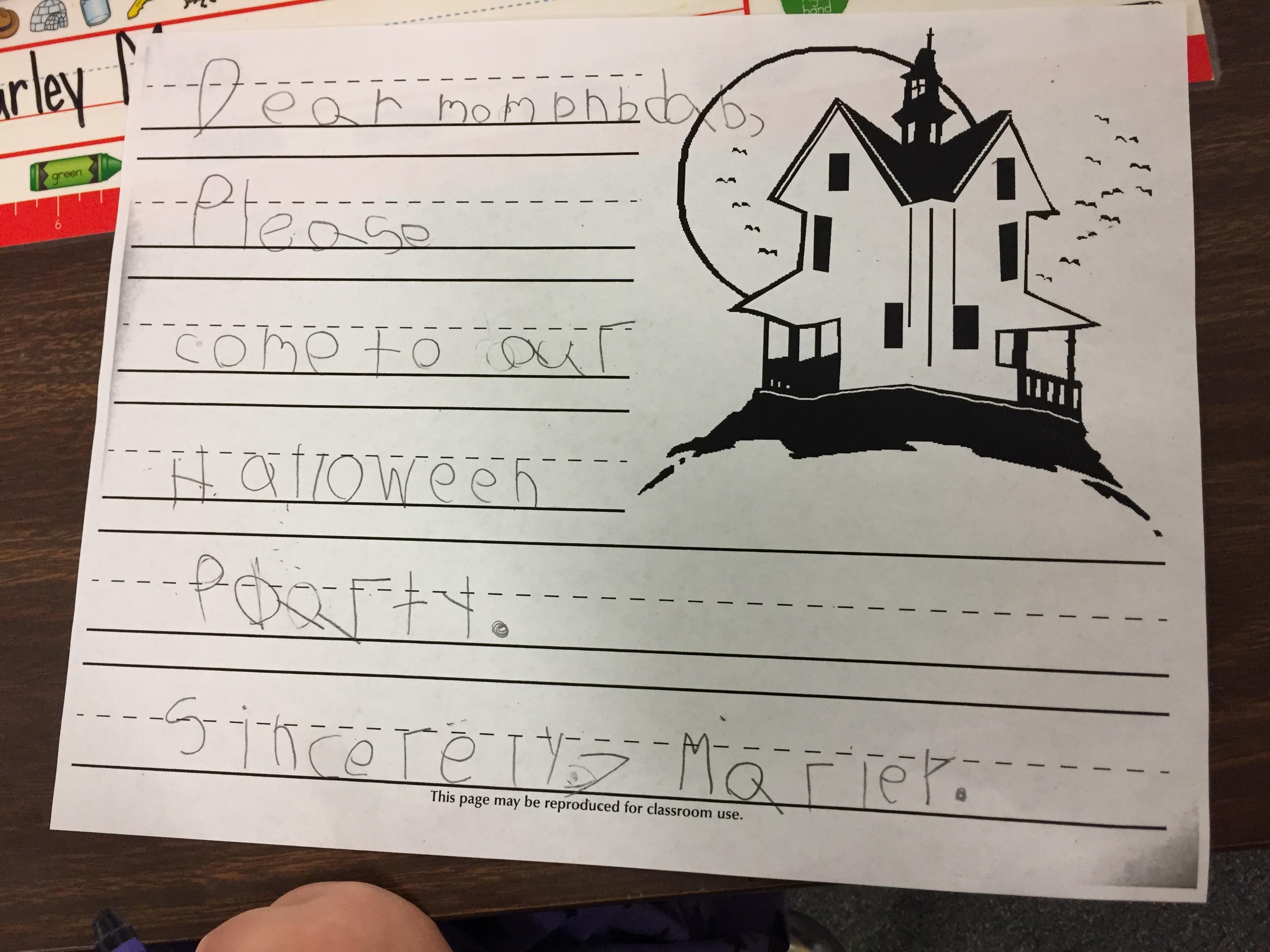 Halloween Writing | The Kindergarten All-Stars