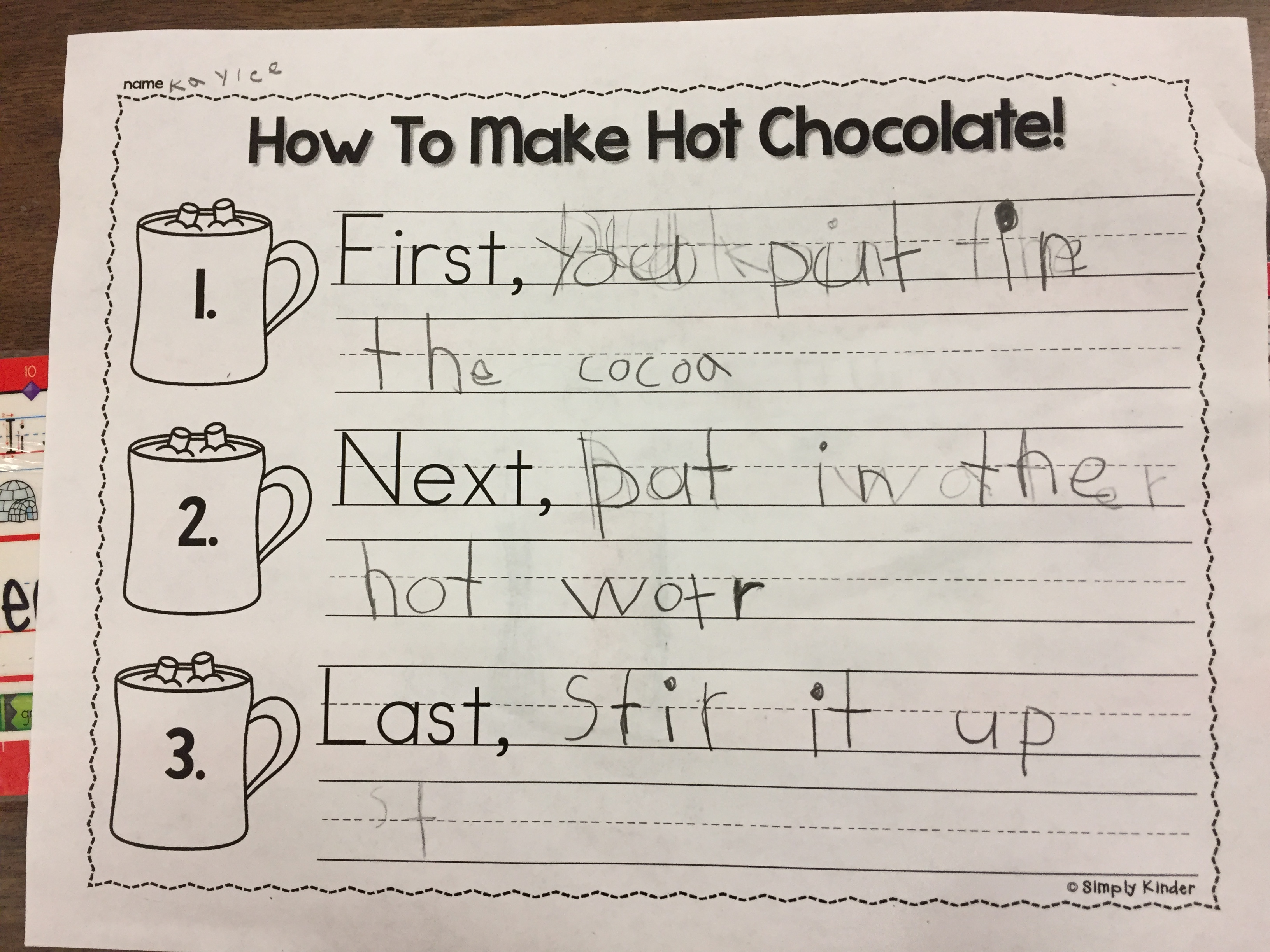 hot chocolate | The Kindergarten All-Stars